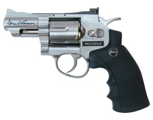 "Rewolwer ASG DAN WESSON 2,5"" CO2 FULL METAL Silver"