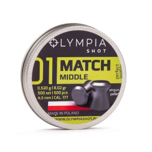 Śrut Olympia Shot Match Middle 4,5mm 500szt.