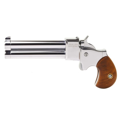 "Pistolet Derringer Great Gun 9mm 3,5"" chromowany"